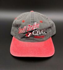 Geoff Bodine #7 QVC Racing Team Adjustable Hat Cap NASCAR New Grey Red
