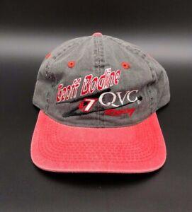 Geoff Bodine #7 QVC Racing Team Adjustable Hat Cap NASCAR New Grey Red
