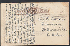 Family History Postcard - Le Couteur -Dunraven,St Saviour's Road,St Helens RF844