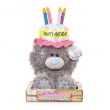 "Me to You - Happy Birthday Cake Hat Plush Bear 7"" - Brand New"