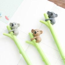 2PCS/Set Kawaii Cartoon Koala Neutral Pen Needle 0.5 mm Office Stationery Gifts
