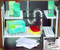 Under Sink Storage Shelf Shelves Organizer Space Saving Tidy Rack Cupboard Addis