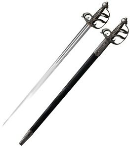 "Cold Steel English Back Sword 32"" 1055 Carbon W/ Black Leather Scabbard 88SEB"