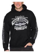 Harley-Davidson Men's Winged B&S Pullover Poly-Blend Fleece Sweatshirt, Black