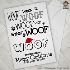 CHRISTMAS Card from the dog fur baby babies pet mum dad fun funny doggie