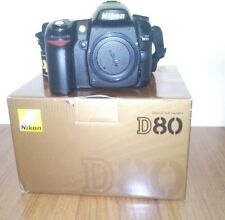 Nikon D D80 10.2MP Digital SLR Camera - Black (Body only boxed)