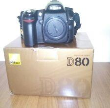 Nikon D D80 10.2 MP Fotocamera Reflex Digitale-Nero (SOLO CORPO INSCATOLATA)