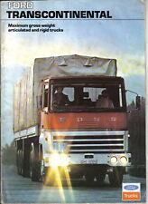 Cabina camión Ford Transcontinental rígido 1975 ORIGINAL FOLLETO de ventas no. FB555