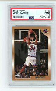 1998-99 Topps Vince Carter #199 PSA 9 MINT Rookie RC Basketball Card
