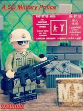 A Sg Military Police minifigure. Printed on real lego minifigure.