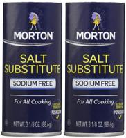 Morton Salt Substitute salt FREE diets,3.12 oz,2 pk 10POCKETS OF STEVIA FOR FREE