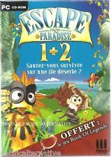 Jeu ESCAPE FROM PARADISE 1+2 pour PC game en francais simulation gestion enfant