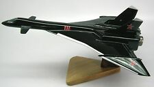 Mikoyan Mig-31 Firefox Fighter Airplane Wood Model Replica X-Large Free Shipping