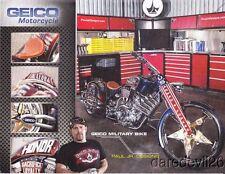 2013 Paul Teutul, Jr. Designs Geico Military Bike Daytona Bike Week info card