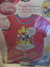 Disney Princess Iron on Transfer for T-Shirt Craft Gift for Girls to Make NEW