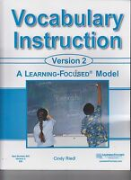 A Learning-Focused Model Vocabulary Instruction Version 2 NO WRITING 842 (E1-73)