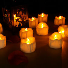 4-12X Flameless Flickering Led Tea Lights Home Décor Electric Candles with Timer