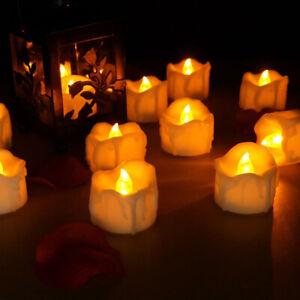 Flameless LED Tealight Candles Tea Light Candle 12/24pcs Battery-powered Timer