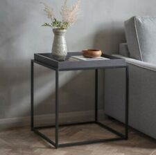 Frank Hudson Gallery Direct Forden Black Tray Side Table