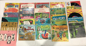 Vintage Children's See Hear Read Along Story Books 45 RPM Records Bundle Over 20