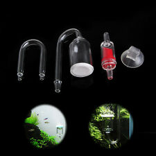 Fish Tank Aquarium CO2 Diffuser Check Valve U Shape Tube Glass Suction Cup Kit