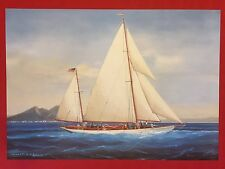 PAPALUCA - SAHARET SHIP 1 FINE ART COLOR PRINT REPLICA of ORIGINAL GOUACHE