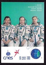 Sergey Avdeevv. Astronaut Autograph Russian Cosmonaut