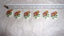 6 Cabochon Steine Brosche Rose Flowers 25x18 Retro Vintage Schmuckherstellung
