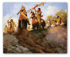 Sunset for the Comanche - by Howard Terpning - giclee on canvas