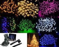 10-200Led Solar/Battery Power Fairy Light String Lamp Party Xmas Garden Outdoor