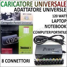 CARICATORE CARICA BATTERIE ALIMENTATORE UNIVERSALE PC NOTEBOOK LAPTOP COMPUTER