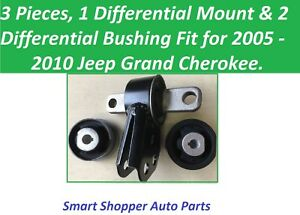 3 PCS Differential Mount & Bushing Fit for 2005 2006 - 2010 Jeep Grand Cherokee