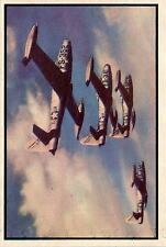 1954 Bowman Power for Peace 31 Four F-84 Thunderjets NM #D376240