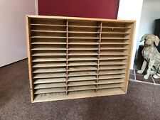 Shelf Vintage Office File Pigeon Hole Wooden Shelving