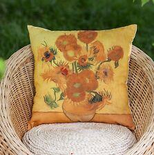 Van Gogh Sunflowers Yellow Cushion Cover Pillow Case Gift Art Decor Birthday