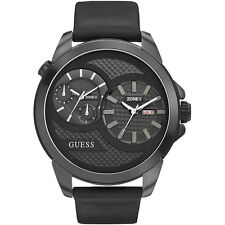 Guess Uomo Orologio Watch Man Uhr Dual Time Nero Data W0184G1 Thunder XXL Big