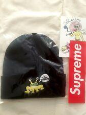Supreme Daniel ( Dan ) Johnston black Frog beanie & stickers SS20