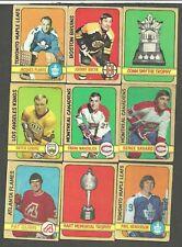1972-73 O-PEE-CHEE OPC Hockey LOT 107 CARDS