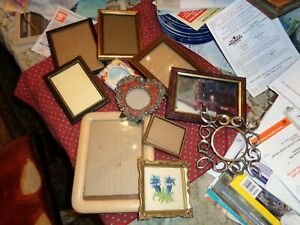 Frames Vintage Collection 11- Lot Table/Wall photo etc wood,pewter.metal,resin