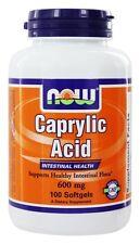 Now Foods Caprylic Acid X 100 s Gelkapseln