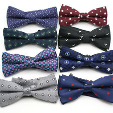 Lot 8 PCS Men's Bow Tie Adjustable Polka Dot Floral Bowtie For Wedding Butterfly