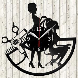 Hairdresser Vinyl Record Wall Clock Decor Handmade 5417