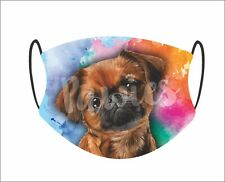 Brussels Griffon Face Mask, Made in Usa, Dog Face Mask, 1 Filter Incluided.