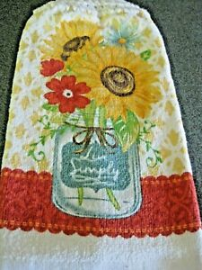 Kitchen Dish Towel With A Crochet Top ~ Live Simply