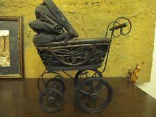 Puppenwagen Holz antik Kinderwagen Deko