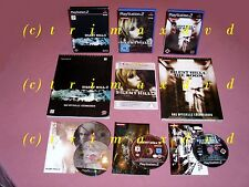 3x ps2 _ Silent Hill 2 & Silent Hill 3 & Silent Hill 4 the room + solución libros