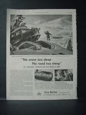 1955 Mountain Rescue Snow Crawler Snowed in Train Inco Nickel VTG Print Ad 10840