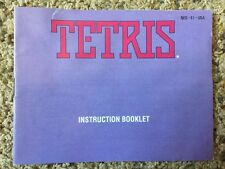 Tetris NES Manual Only Instruction Booklet Nintendo High Quality
