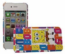 Spongebob Backcover Block für Apple iPhone 4 4S Handy Tasche Rückschale Hülle
