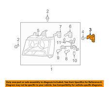 GM OEM Headlight Head Light Lamp-Support Bracket Left 15874642